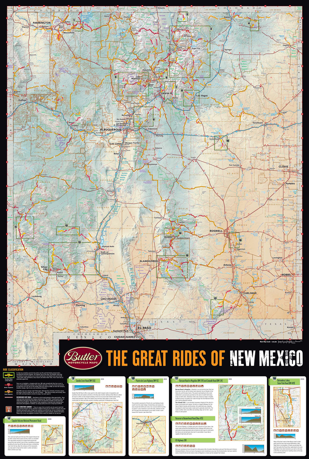 New Mexico G Map Butler Motorcycle Maps - Maps new mexico